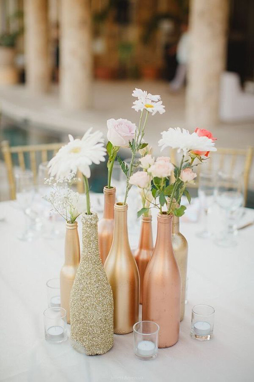 botellas-diy-boda-dorado