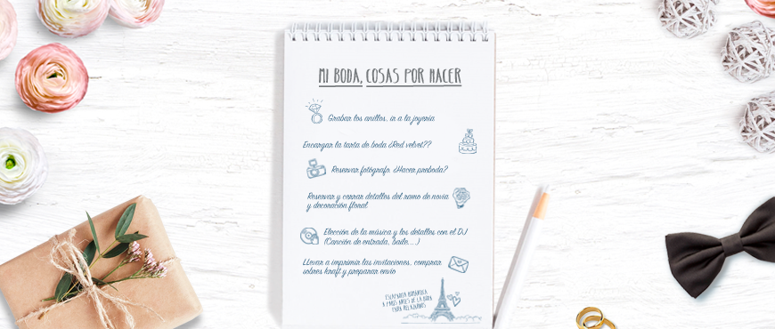 Planifica tu boda con nuestra checklist