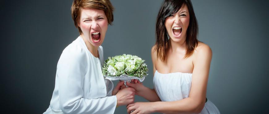 Novias con estrés antes de la boda