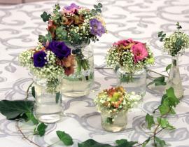 Decoración flores Restaurante Gayarre