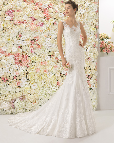 Vestido novia corte cadera