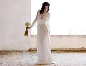 Vestidos de novia romanticos manga larga